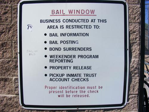 Jail Las Vegas - Bail Window Rules