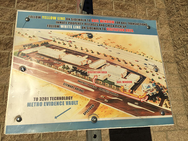 Jail Las Vegas Detention Center Overhead Facility Map