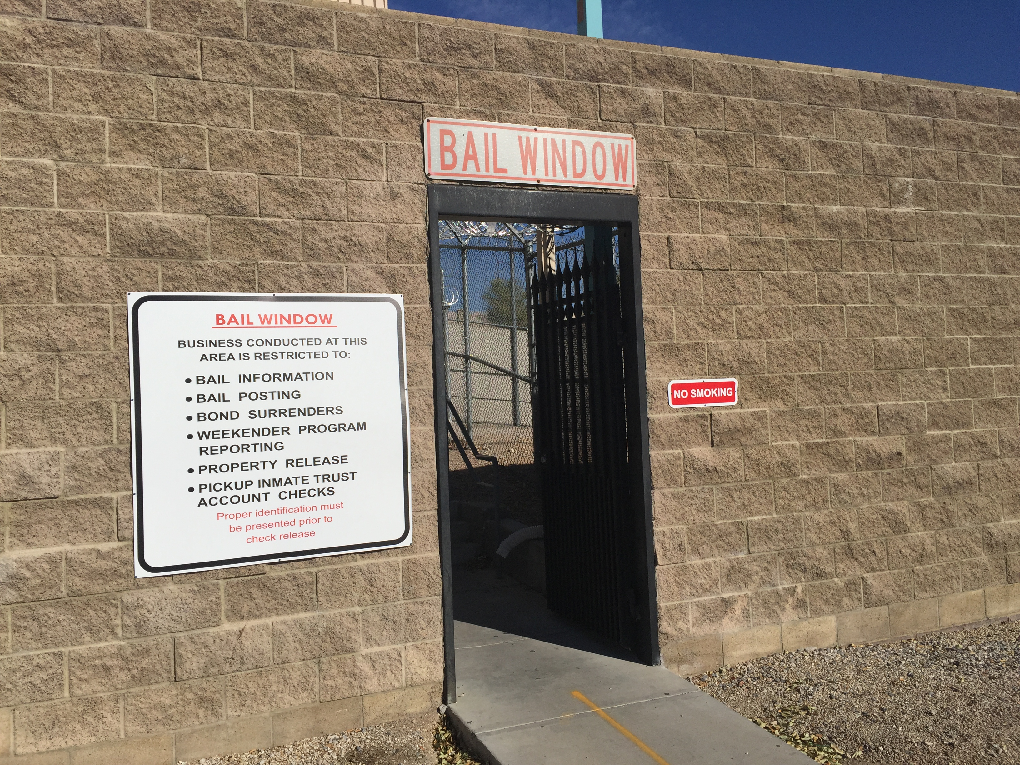 North Las Vegas Detention Center Bail Window
